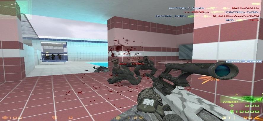 Оружие с прицелом в игре контр-страйк 1.6 от Модерн Варфаре 3